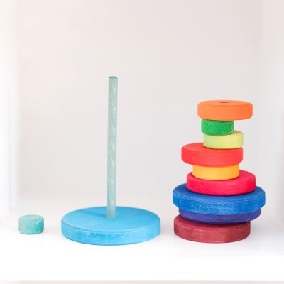 Open Ended Toys for Toddlers: Grimm's Rainbow Stacking Tower